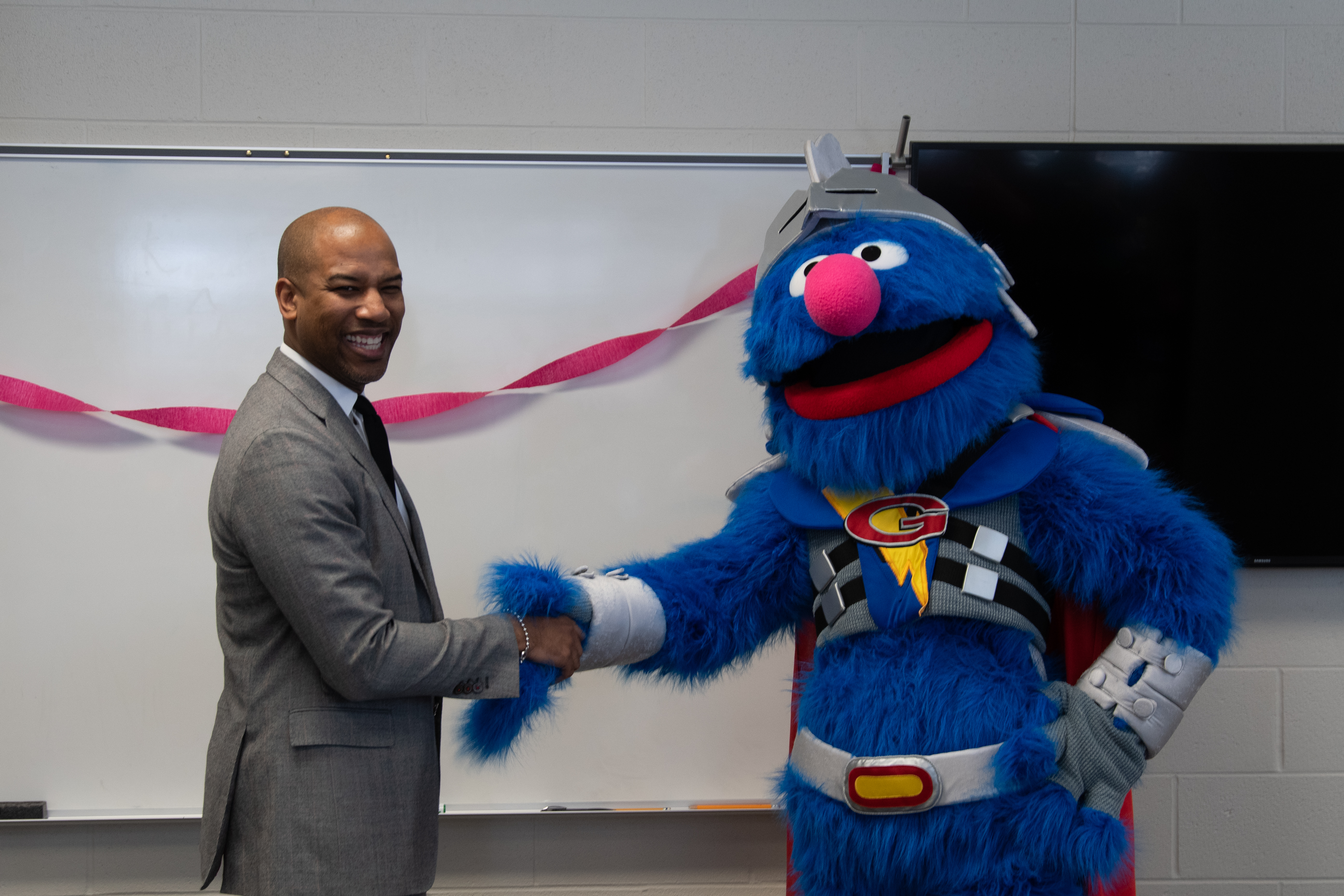 Dr. Charles Foust with super grover