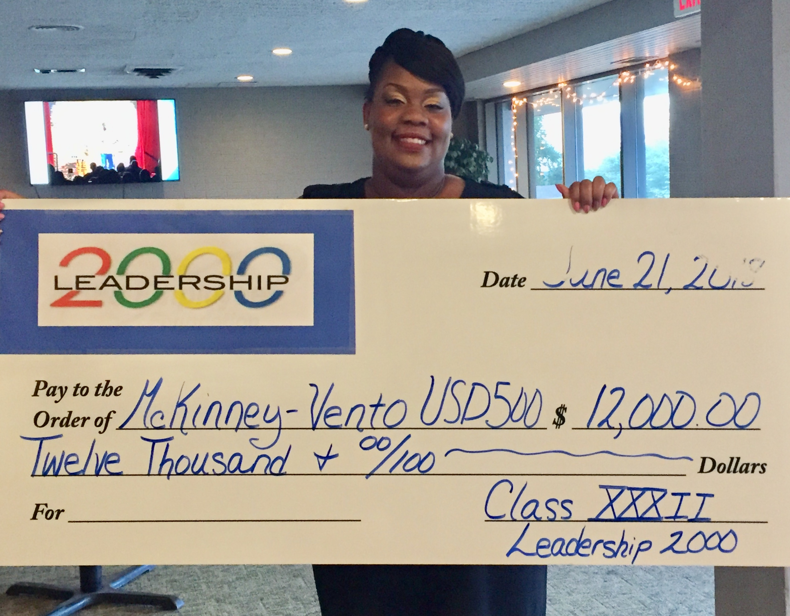 McKinney-Vento Award of $12,000 from Leadership 2000