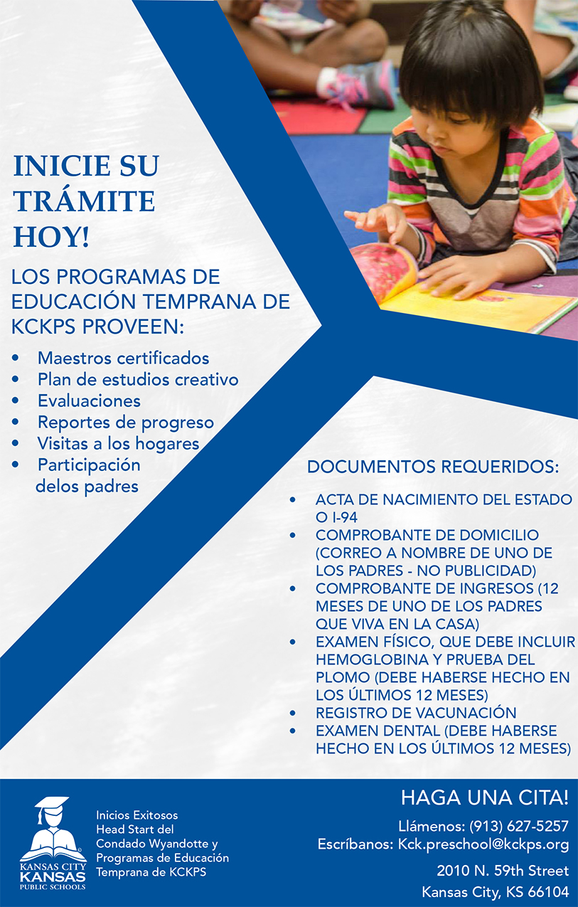 Preschool Enrollment Flyer Spanish