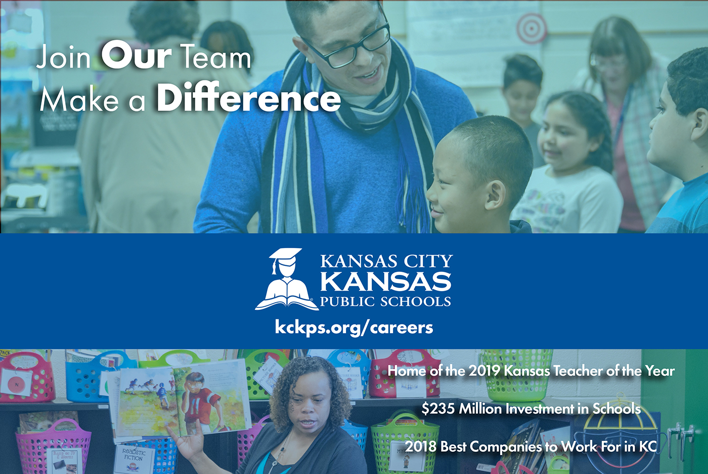 Recruitment Ad - go to kckps.org/careers for more information