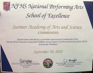 Certificate of Recognition for Sumner Academy