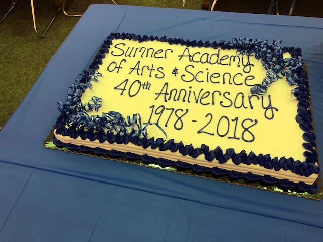 Anniversary Cake at Sumner Academy