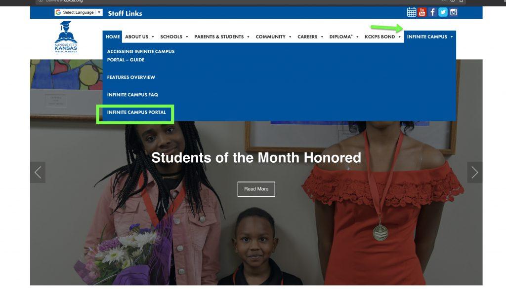 Accessing Infinite Campus Portal Guide Kansas City Kansas Public Schools