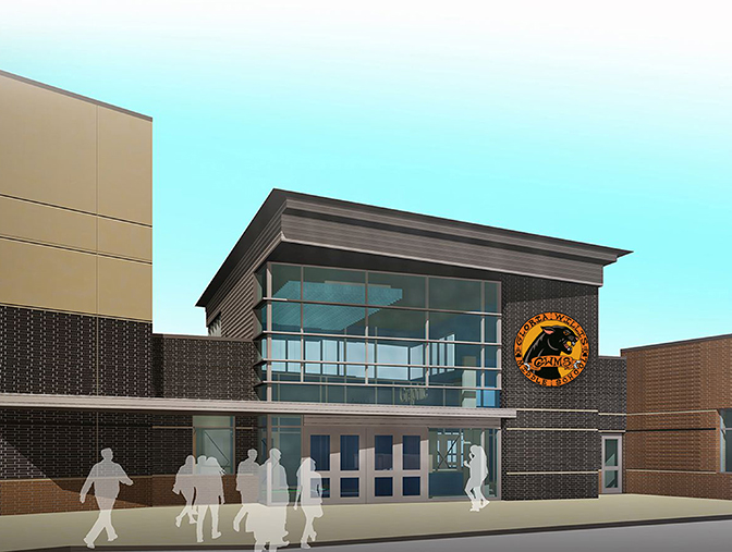 Architectural Rendering of Gloria Willis Middle School