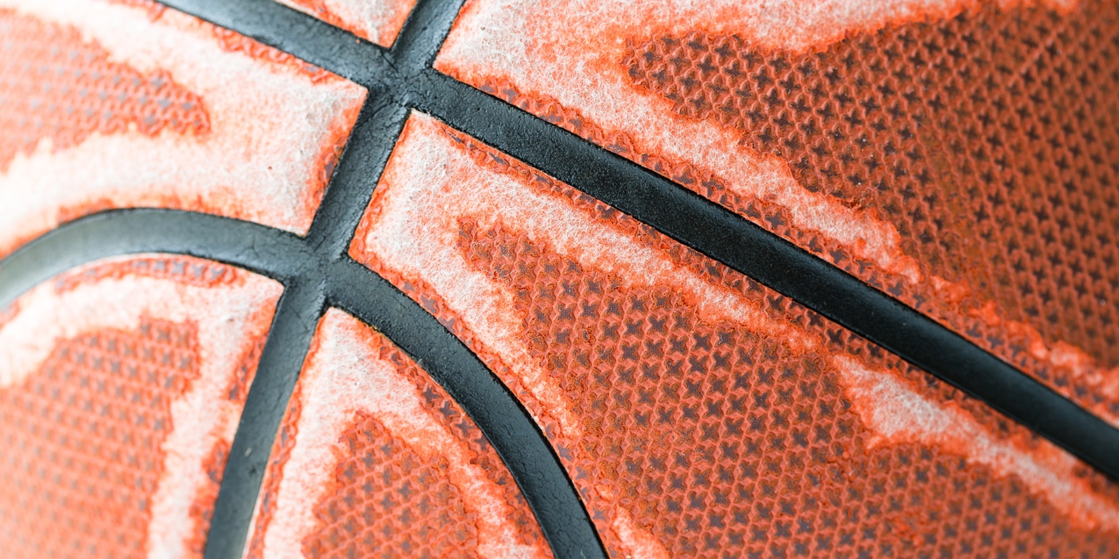 detail of a well-used basketball