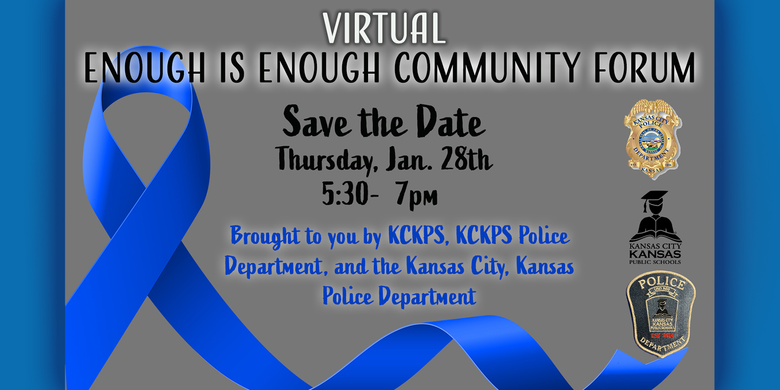Enough is Enough Virtual Community Forum on January 28