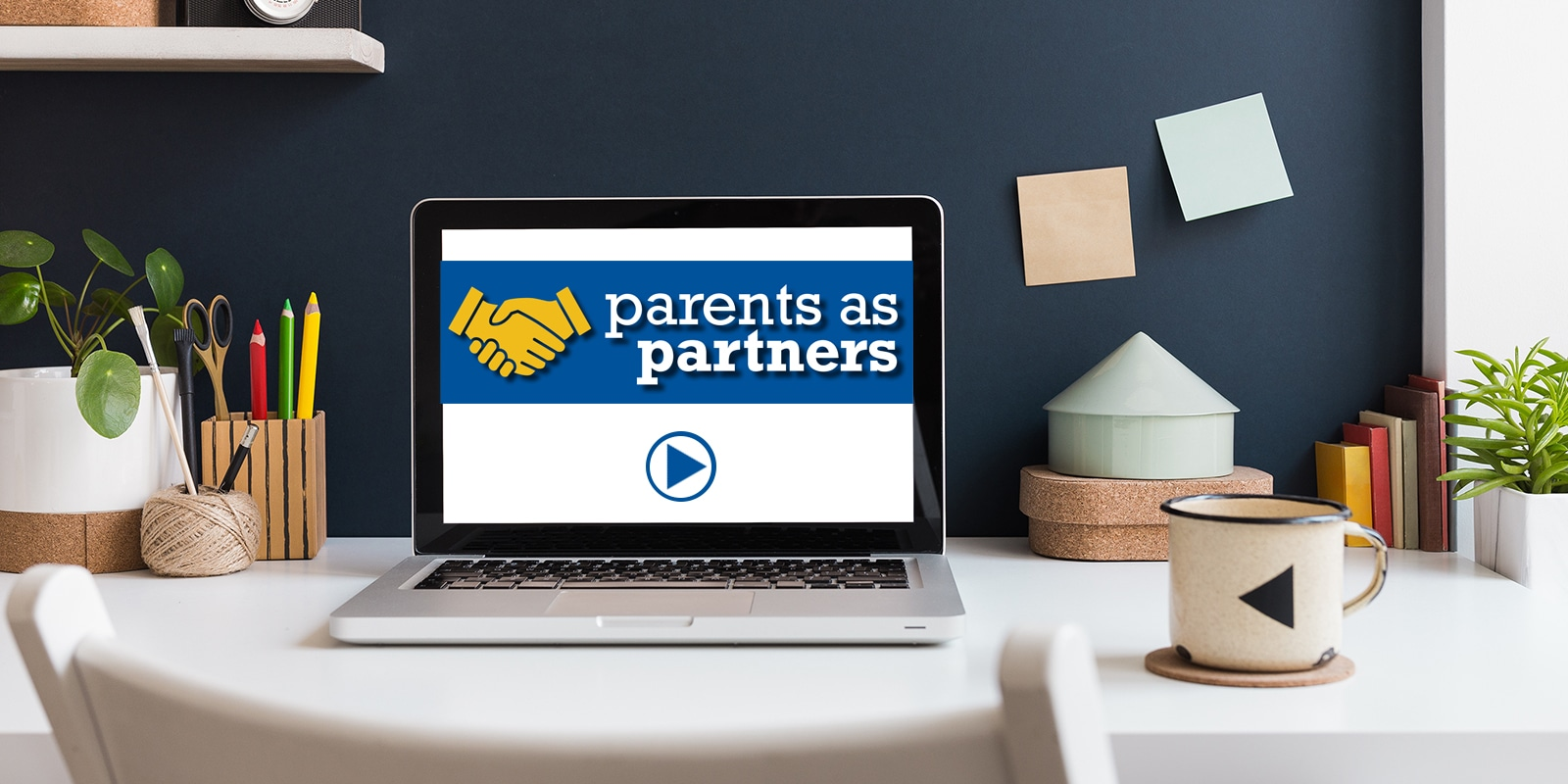 Parents as Partners virtual meeting on a laptop