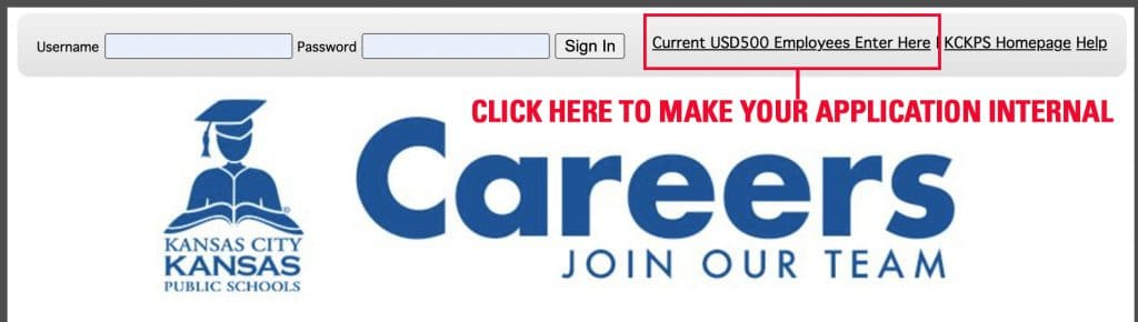 """Click the """"Current USD500 Employees Enter Here"""" Link on the TED K-12 website"""