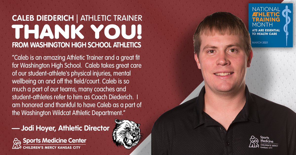 athletic trainer Caleb Diederich