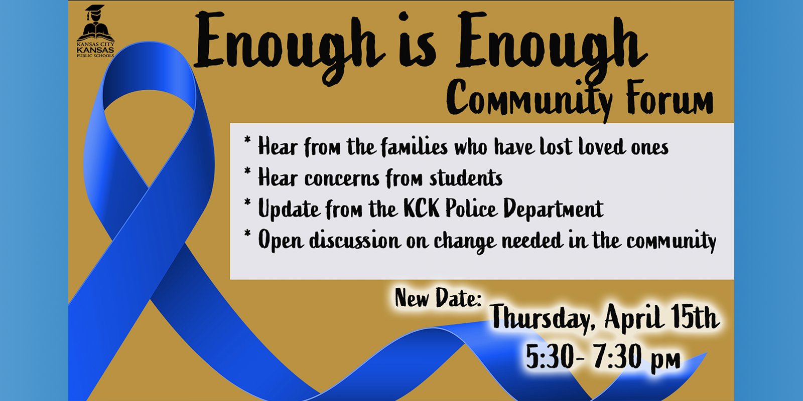 Next Community Forum on April 15