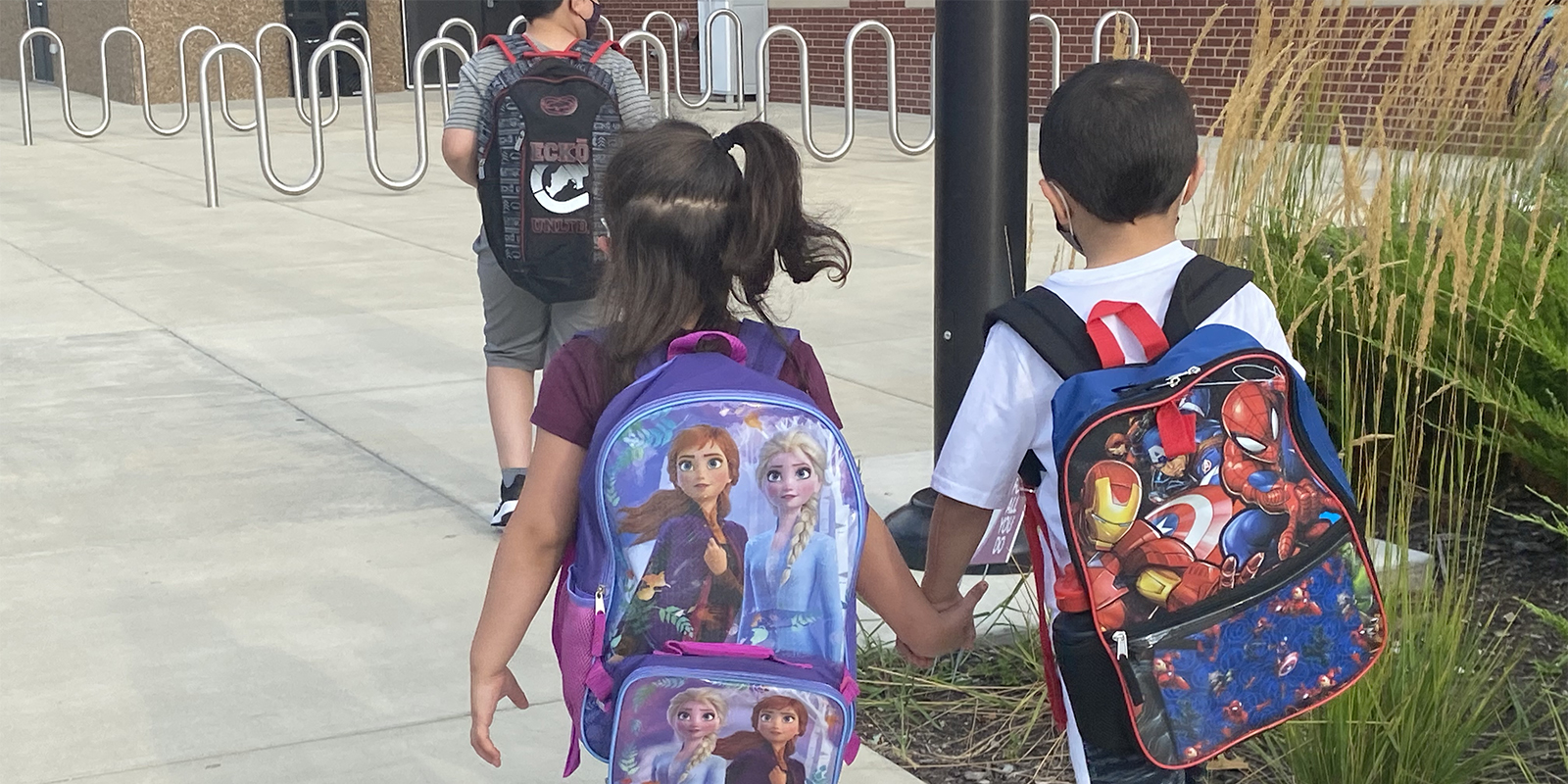 Students on first day of school