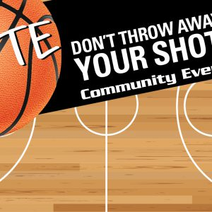 Dotte Don't Throw Away Your Shot Community Event graphic