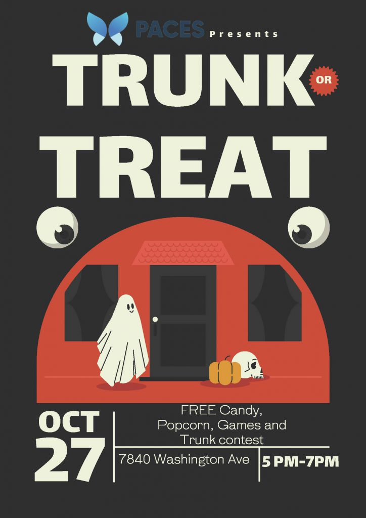 PACES Trunk or Treat Event on October 27, 2021