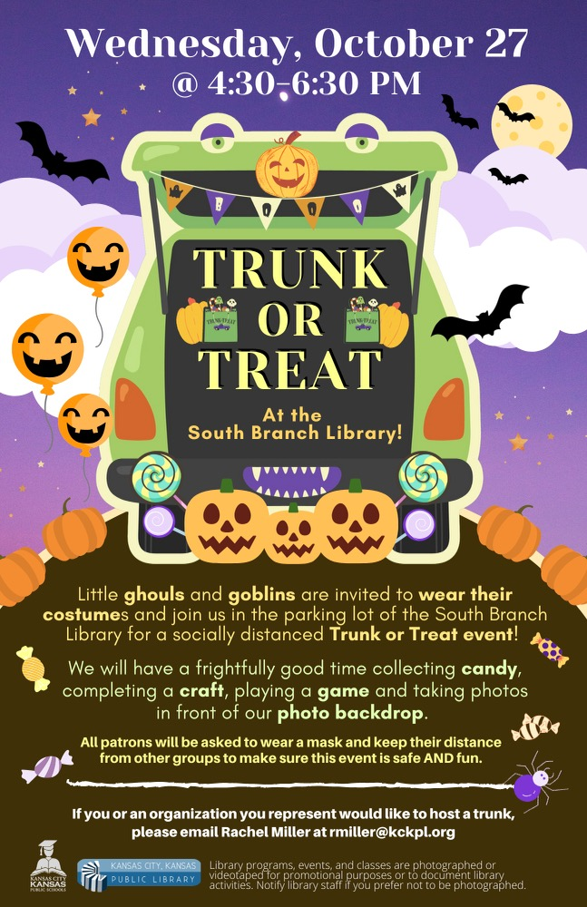 Trunk or Treat Event on October 27, 2021