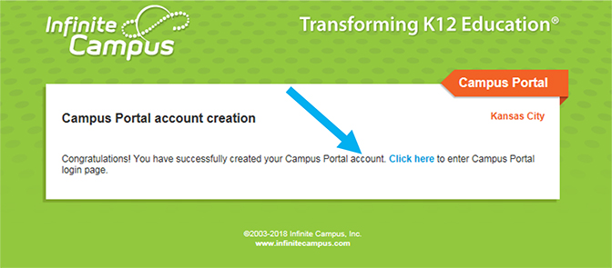 Infinite Campus Instruction Screenshot
